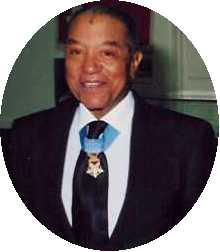 Vernon Baker With His Medal Of Honor